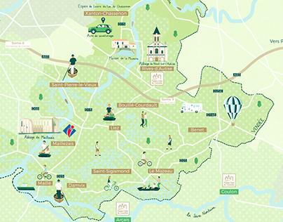 Destination Vendée Marais poitevin - Carte