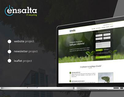 Ensalta - Recycling landing page
