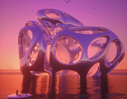 ABSTRACT 3D CGI SUNSET RENDERS COLLECTION 2020