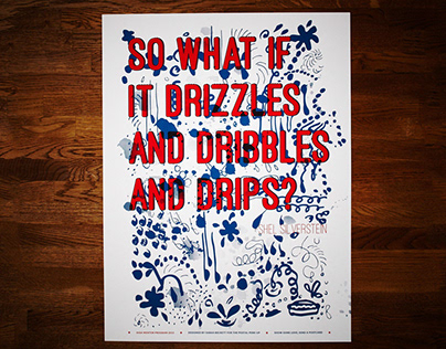 Postal Perk-Up - Drizzles and Dribbles and Drips Poster