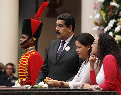 Presidente de Venezuela Nicolas en el Cuartel 4F