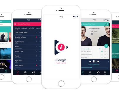 Google Play Music UI Concept