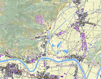 Carta topografica della Toscana
