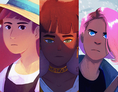 August Character Portraits - Short Process Videos