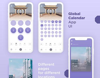 Global Calendar App UI