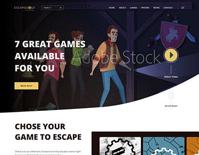 Redesign of an Escape Room Homepage