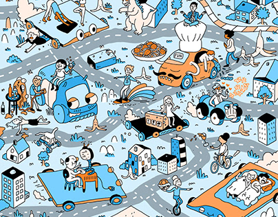 LEAD Magazine / Mobility: Hidden Object Illustration