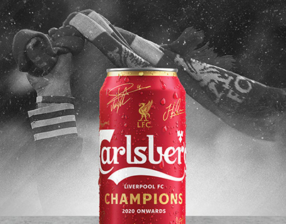Carlsberg and Liverpool limited edition champions cans
