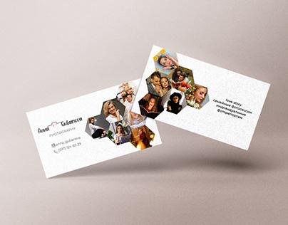 Вusiness card for photographer
