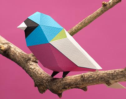 Aves de papel para armar