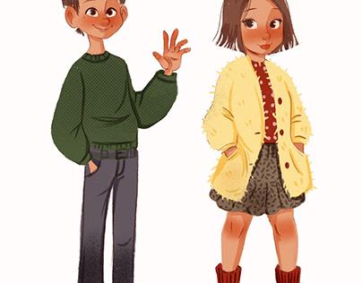 Character digital kids book