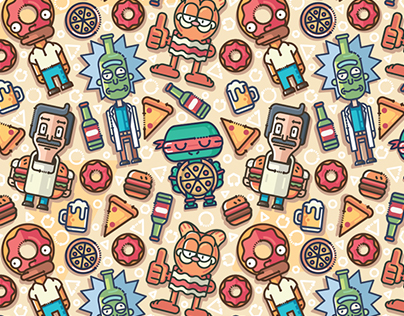 Cartoon Fooders | pattern