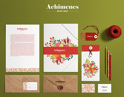 """Identity for floral workshop """"Achimenes"""""""