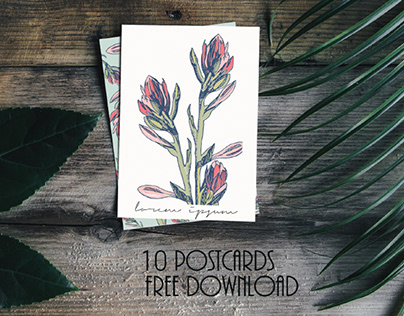 10 BEAUTIFUL FLORAL CARDS