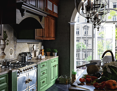 French kitchen. (project with Khayal Babayev)