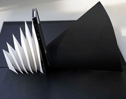 Kelli Anderson's pop-up paper speaker