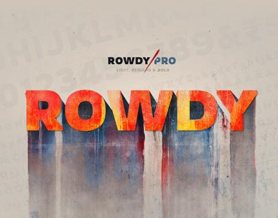 Rowdy Pro - Free Font