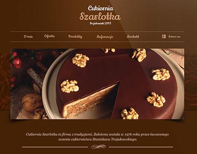 Strona internetowa cukierni