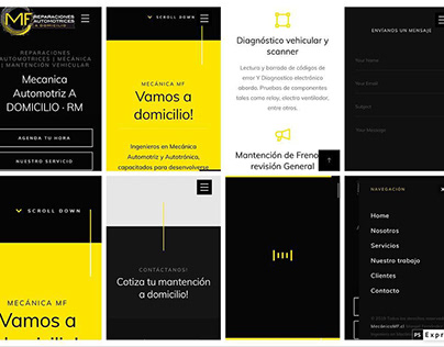 LandingPage Full Responsive · Mecánica Chile