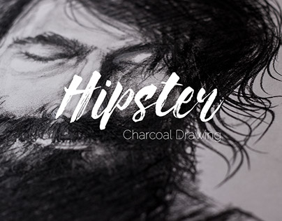 Hipster - Charcoal Drawing