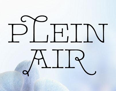 Pleinair font