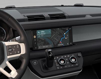 Land Rover Defender Navigation UI/UX