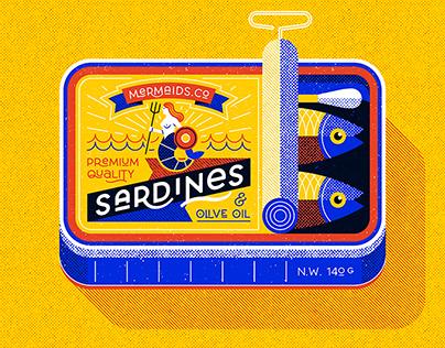 Sardine can, serigraphy