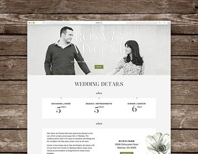 Wedding Site & Print Details