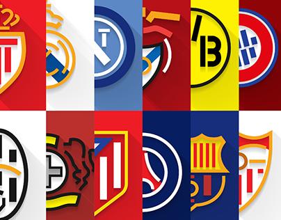 Shields Champions League   Flat Design