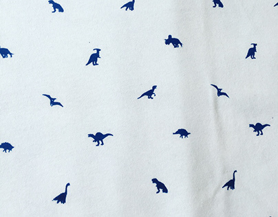 Dinosaur repeat screen print