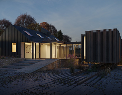 CGIs for a project of Station House by night
