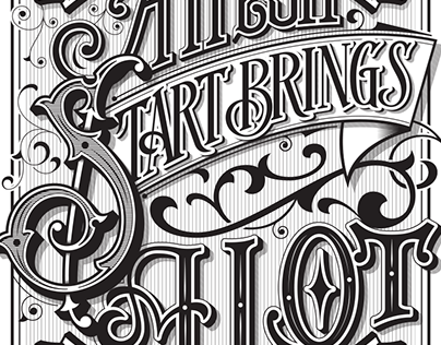 Lettering quote