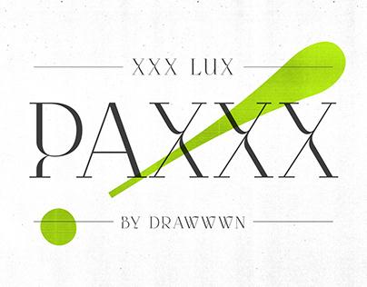Paxxx - Stylish serif font
