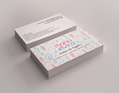 Identidade visual e cartões de visita Mª Elvira