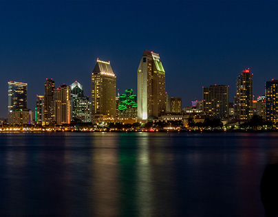 Coronado, CA: San Diego Skyline at Night
