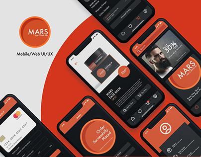 MARS- Men's Skincare UI/UX Design