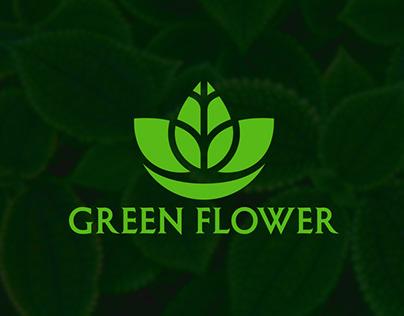 Green Flower Logo Design For Flower Business