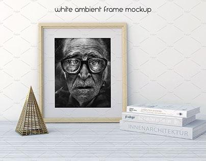 White Ambient Frame Mockup