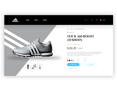 Adidas Product Page Concept
