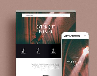 Overnight Theatre Website Design & Development