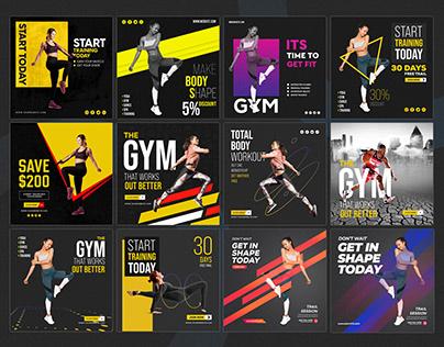 Gym Banner Folio