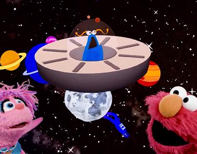 "Abby & Elmo ""I Spy"" Blue - Characters & Backgrounds"