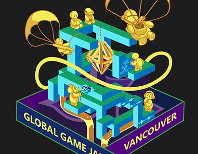 T-shirt Design for Global Game Jam Vancouver