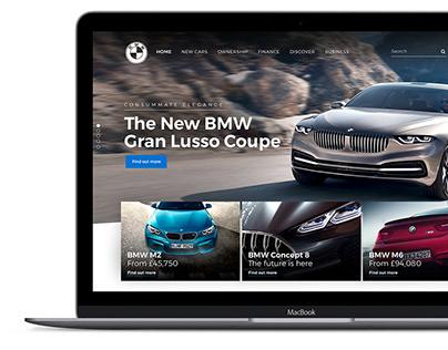 BMW Homepage Design