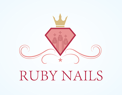 Ruby nails logo