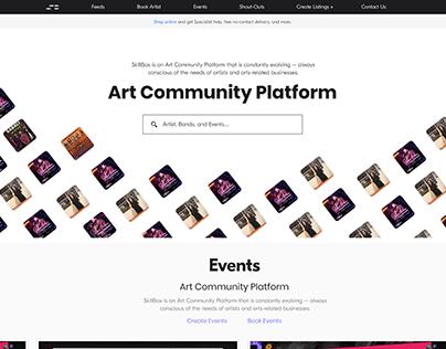Landing Page - Artist Platform