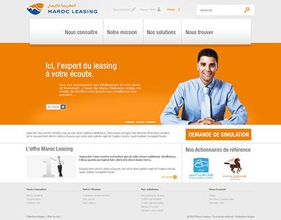 "Site web "" Maroc leasing """