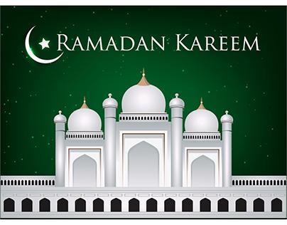 Vector Ramadan Greeting card Background