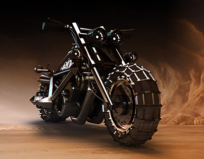 3D motorcycle concept (Mad Max)