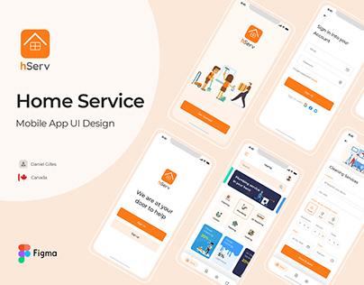 Home Service Mobile App UI Design